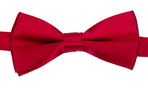 Baby Toddler Boy Little Gentlemen Adjustable Solid Color Bow Tie (Red)
