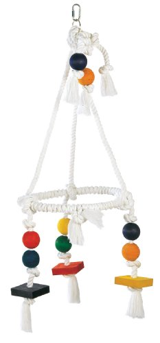 Living World Jumbo Wood and Rope Chandelier, My Pet Supplies
