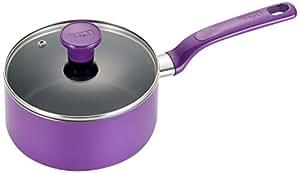 T-fal C97024 Excite Nonstick Covered Dishwasher Safe Oven Safe Sauce Pan, 3-Quart, Purple