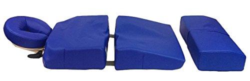 DevLon NorthWest Pregnancy Massage Cushion and Headrest Full Body Bolster Full Body Bolster Package Blue