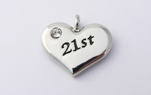 21st Charm - Silver Plated and