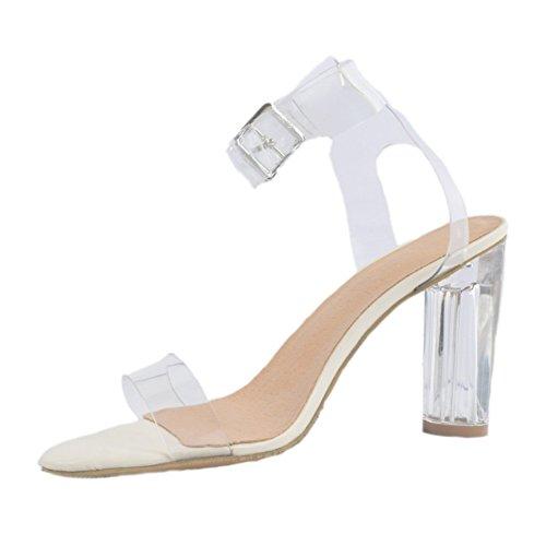Mode PVC Blocked Heel Damen Kolnoo Schuhe Toe Ferse Sandalen High Open xSqUORYwzO