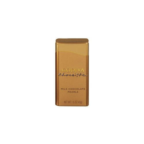 Godiva Chocolatier Milk Choc Chocoiste Pearls (Economy Case Pack) 1.5 Oz Tin (Pack of 18)