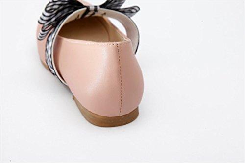 Zapatos luz Primavera el Presidente Round Zapatos Pajarita up Estudiantes Pink la Durante Tacón de Dulce Otoño y w7qfZHAq