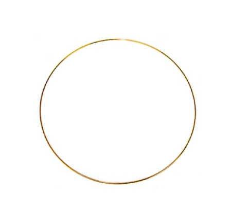 Package of 6 Solid Metal Craft Rings in - Gold Metal Craft Rings