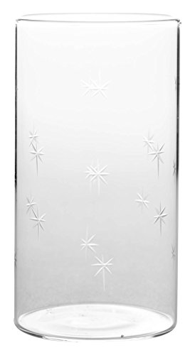 (Borosil VDLG350 Vision Deco Large Galaxy Glass (Set of 6), 12 oz (345ml),)