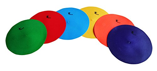 Cintz Rubber poly spots (Set of 6) in Green, Yellow, Red, Orange, Blue and Purple colored Poly (Poly Set Green)