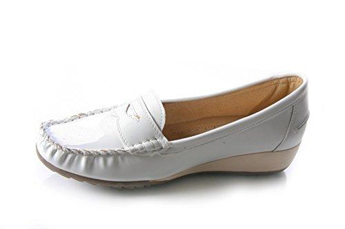 Mojoshu - Zapatos de Vestir mujer blanco