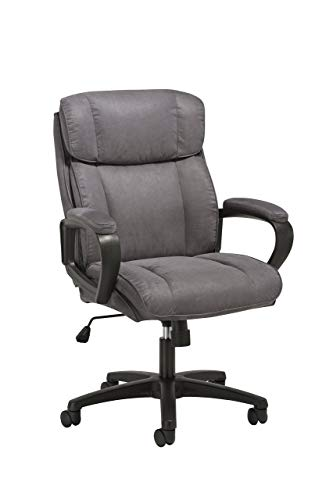 Essentials Executive Chair – Mid Back Office Computer Chair (ESS-3082-GRY) (Renewed)