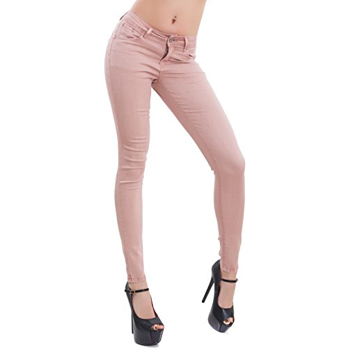 Toocool Femme Rose Bleu Jeans Denim Skinny XS WOq8nTW