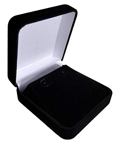 - Logos Trading Post Black Plush Jewelry Box - Earrings, Pendants, Necklaces, and More