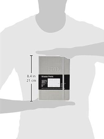 Makro Paper JS15080-GY - Agenda semana vista con textura de puntitos