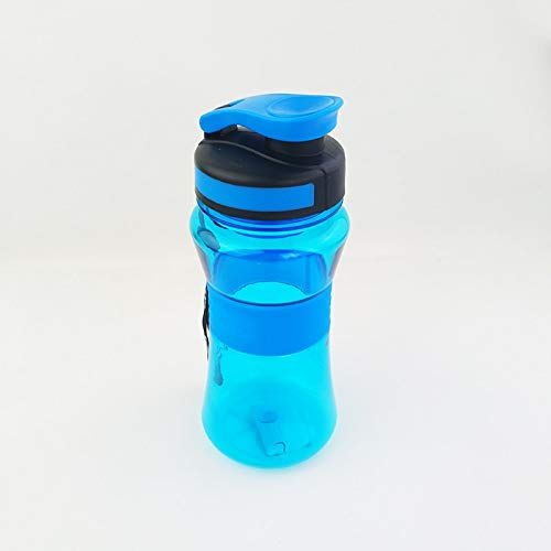 LC 550ml 700ml Sports Water Bottle with Tea Infuser Portable Plastic Drinking Water Bottles for Hiking Bike Bicycle Cycling Camping (Blue,700ml)