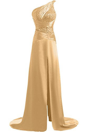 Sunvary One Shoulder Satin Long Mother of the Bride Dresses with Sequins
