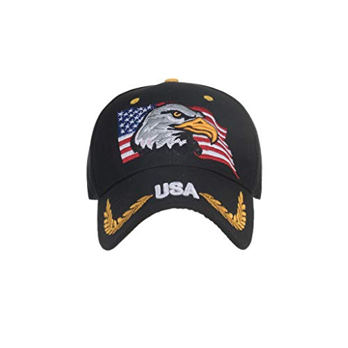 Summer Hat American Flag Embroidered Unisex Baseball Caps Adjustable Fits Womens Mans