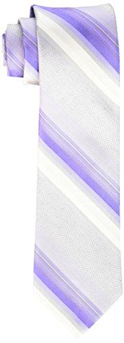 Calvin Klein Men's Horizon Stripe Tie, Purple, One (Calvin Klein Purple Stripe)
