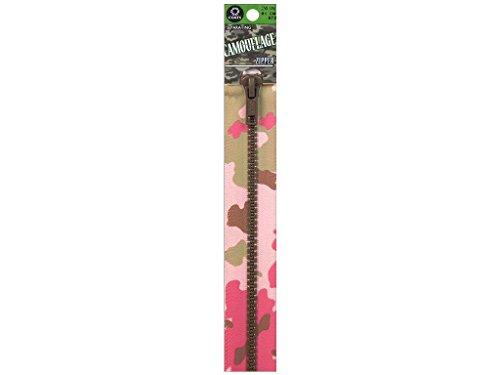 Clark Molded Separating Zipper (COATS & CLARK Fashion Camouflage Separating Zipper, 24-Inch, Pink Camo)