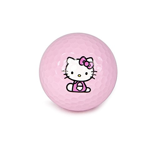 Hello Kitty Golf 3 Item - Kit -''The Collection'' Golf Balls (6 balls) + Hello Kitty Sports Script Hat (1 pc.) + Hello Kitty Premier Collection Divot Tool (1 pc.) by Hotshots (Image #2)