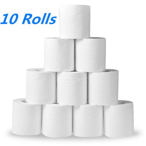 🥇 10 Roll White Paper Towels Rolls Toilet Roll 3 Layers Tissue Roll Kitchen Toilet Paper