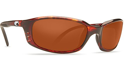 Costa Del Mar Brine C-Mate 2.00 Sunglasses, Tortoise, Copper 580P - Brine Mar Del Costa Tortoise