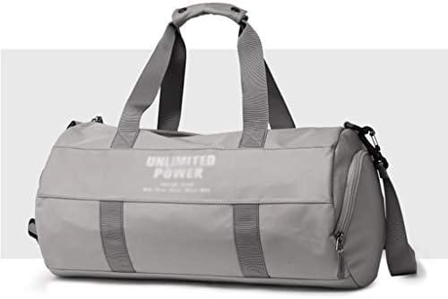 ポータブルシリンダーフィットネスバッグ多機能ゴルフの服バッグドライとウェットの分離独立した靴ポジション大容量デザインブラック、グレー HMMSP (Color : Gray)