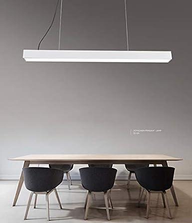24w LED,Lampada a sospensione allungata regolabile in altezza in camera da  letto lampada per sala da pranzo soggiorno camera da ...