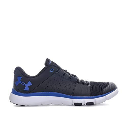 Under Armour Men's Strive 7 Sneaker, Black (004)/Jupiter Blue, 10