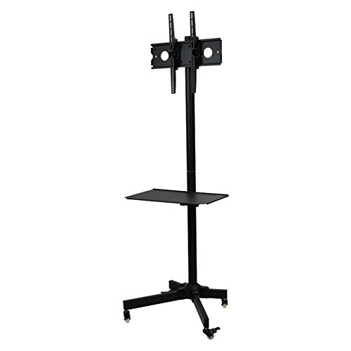 NavePoint Flat Panel TV Cart Height Adjustable 23'' to 55'' Mobile Stand w/Wheels