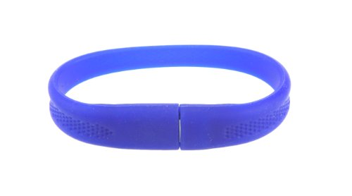 Blue Silicone Rubber Bracelet with 8GB Flash Drive USB Memory