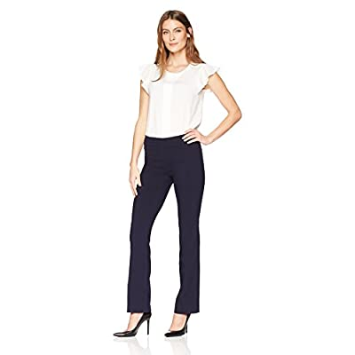 Lark & Ro Women's Barely Bootcut Stretch Pant: Comfort Fit: Clothing