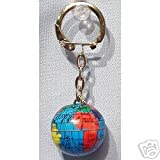little big planet keychain - World Map Globe Keychain / Sold as a Set of Six Color Globe Keychains, Great for Party Favors, Incentive Awards, Gift Giving and More /