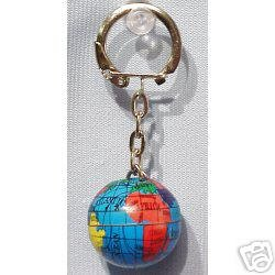 Amazon world map globe keychain sold as a set of six color world map globe keychain sold as a set of six color globe keychains great gumiabroncs Image collections