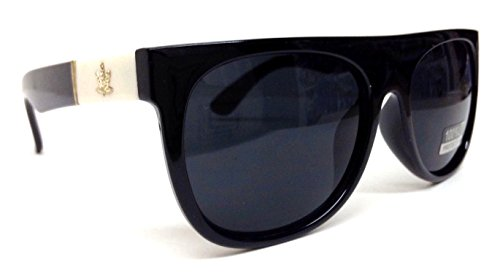 Black-White-Gold-Weed-Leaf-Wayfarer-Sunglasses