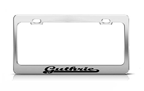 AdriK Guthrie Last Name Ancestry Metal Chrome Tag Holder License Plate (Guthrie Metal)