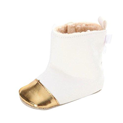 Clode® Kleinkind Baby Mädchen Warm Halten Bogen Leder Schneestiefel Weiche  Sohlen Krippe Schuhe Stiefel Winterstiefel fbaa525601