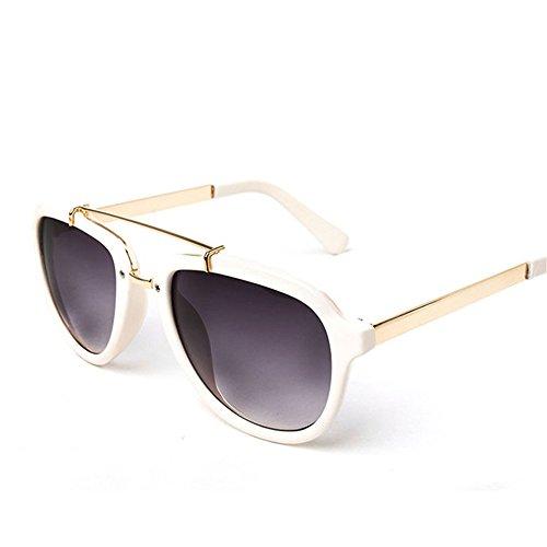 gris Lente UV borde de verde blanco sol gris gafas al lente con de de borde protección Gafas Elegante mujer estrellas DESESHENME HqTB0qFa