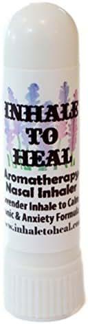 Inhale to Heal Lavender Inhale to Calm Panic & Anxiety Formula Aromatherapy Nasal Inhaler