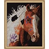 Bucilla Counted Cross Stitch Kit, 8 by 10-Inch, 45442 War Pony
