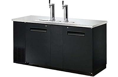 UDD-24-60 Black Kegerator / Beer Dispenser - (2) 1/2 Keg Capacity