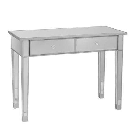 illusions collection mirrored console table