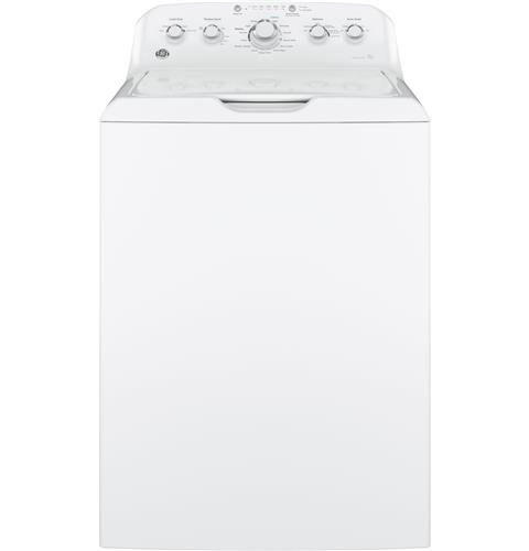 GE GTW460ASJWW Top Loading Washer with Stainless Steel Basket, 4.2 Cu. Ft. Capacity, 14 Cycles, White, - Ge Washing Machine