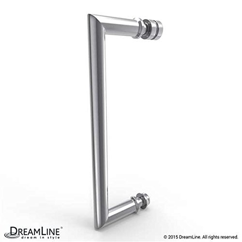 "hot sale DreamLine Unidoor Plus 50-1/2""W x 30-3/8""D x 72"" H Hinged Shower Enclosure, Half Frosted Glass Door, Chrome Finish Hardware"