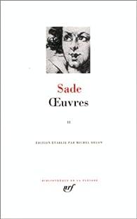 Oeuvres - La Pléiade  02 par Marquis de Sade