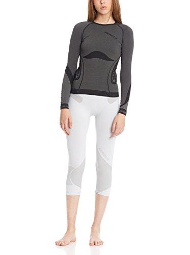 expedus Función Interior de esquí para mujer Ropa Camiseta grafito/Negro