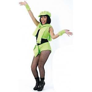 Plusch Weste Mit Sexy Shorts Neon Grun Karneval Fasching Kostum M