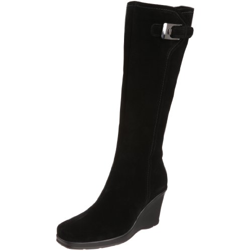 La Canadienne Suede Wedges - La Canadienne Women's Isadora Knee-High Boot,Black,11 M US