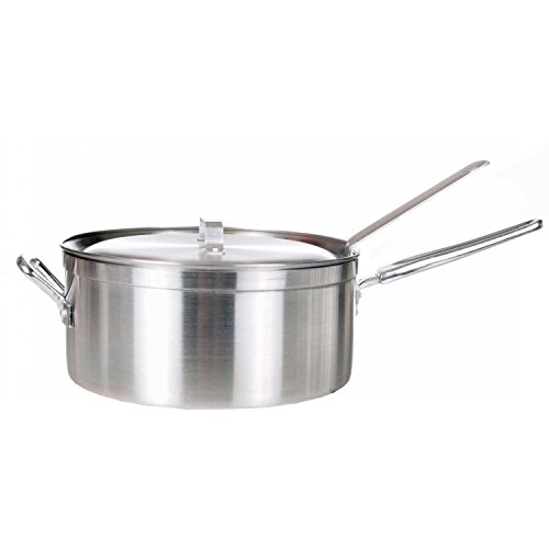 Cajun Cookware 12-Inch Aluminum Fry Pot with Basket (Polished Aluminum Cookware)