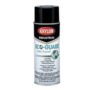 Krylon 16 Oz. Max. Flat Black Industrial Eco-Guard Latex Spray Paint Can,(12 Oz. Net Fill)