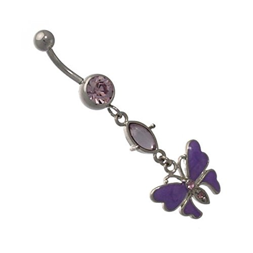 Sarita Silver Purple Crystal S