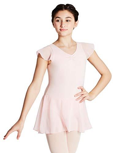 Capezio Girls' Little Flutter Sleeve Dress, Pink, Small